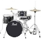 "Pearl Roadshow 18"" Kick Portable Drum Kit Complete w/ Hardware + Cymbals in Jet Black"