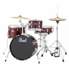 "Pearl Roadshow 18"" 4pc Drum Kit Package W/Cymbals and Hardware in Red Wine"