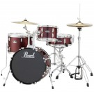 "Pearl Roadshow-X 18"" 4pce Drum Kit Package in Wine Red with Zildjian Cymbal upgrade,B50 Boom stand & D50 Throne"