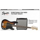 Squier PJ Bass Pack with Rumble 15 Amp in Sunburst