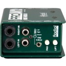 Radial DI Box Passive Stereo Multimedia W/RCA Connections
