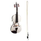 Stentor Harlequin Series 4/4 Full Size Violin in Metallic White