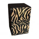 Samba Cajon Standard with Adjustable Strings and Screwed on Front with Zebra Design