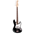 SX SB1 Electric Bass Guitar Kit in Black