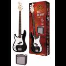 SX P Bass Kit Left Handed in Black