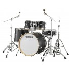 "Yamaha Tour Custom Maple 20"" Fusion Drum Kit in Licorice Satin"