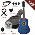 Ashton CG44 Nylon String Starter Guitar Pack - Blue