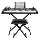 Alesis Harmony 61MK2 Keyboard Pack inc Stand, Bench, Headphones & Mic