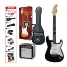 SX  3/4 Size Electric Guitar Kit Black