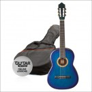 Ashton CG12 1/2 Size Nylon String Guitar Pack Blue Burst