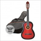 Ashton CG12 1/2 Size Nylon String Guitar Pack Red Burst