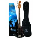 SX 3/4 Size Bass Guitar with Bag in Black