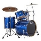 """Pearl Export 22"""" Fusion Plus Drum Kit with P-830 Hardware Pack in Black Smoke Lacquer Finish"""