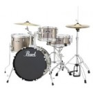 """Pearl - Roadshow 18"""" 4pc Drum Kit Package W/Cymbals and Hardware in Bronze Metallic"""
