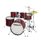 DXP TXJ7 5 Piece Deluxe Junior Drum Kit Pack in Wine Red