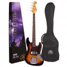 SX VEJ62 Vintage 62 Jazz Style Bass Guitar in Tobacco Sunburst