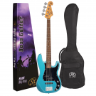 SX VEP62 Vintage Style Bass Guitar in Lake Placid Blue (Preorder)