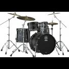 Yamaha Live Custom Hybrid Oak Euro Drum Kit in Charcoal Sunburst