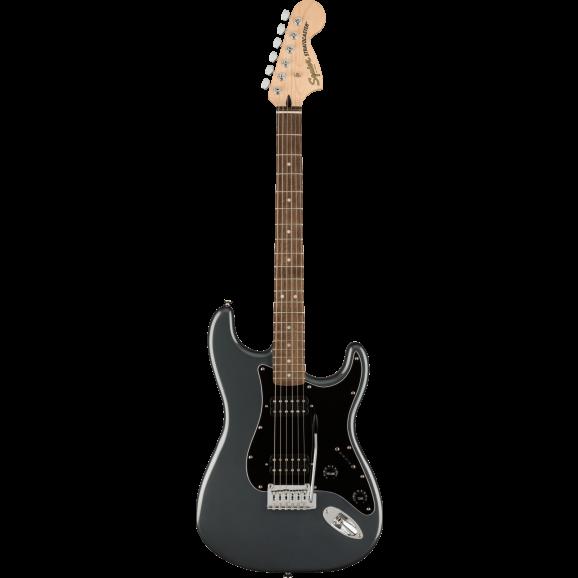 Squier Affinity Series Stratocaster HH Laurel Fingerboard Black Pickguard Charcoal Frost Metallic