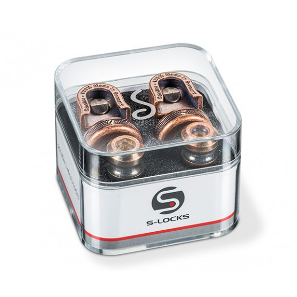 Schaller New S-Locks (Pair) 14010801 - Vintage Copper