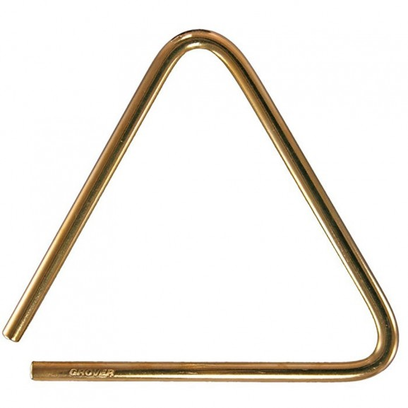 "Grover - Triangle 4"" Bronze Concert Pro"