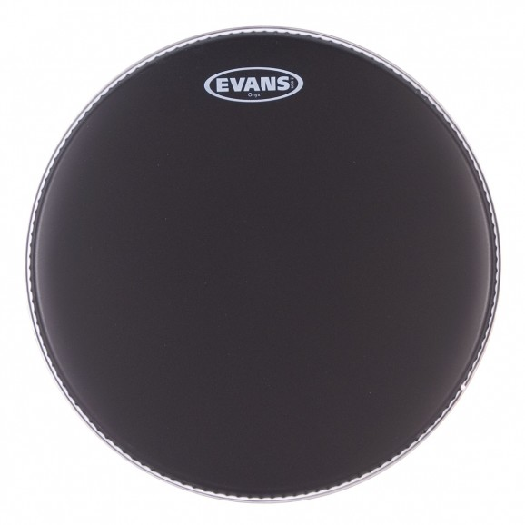 "Evans - 10"" Onyx Coated Black Drum Head"