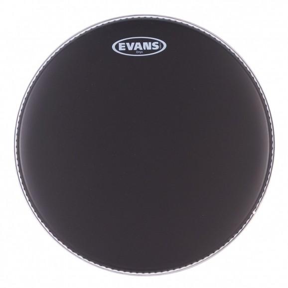 """Evans - 14"""" Onyx Coated Black Drum Head"""