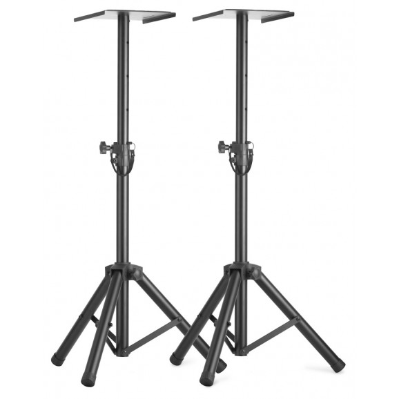 Stagg - Two Height-Adjustable Monitor Or Light Stands With Folding Legs