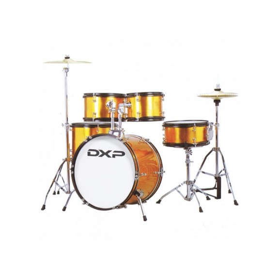 DXP TXJ7 5 Piece Deluxe Junior Drum Kit Pack in Gold Sparkle