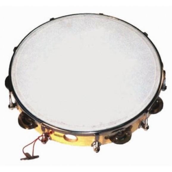 """Mano Percussion 10"""" Tuneable Tambourine"""
