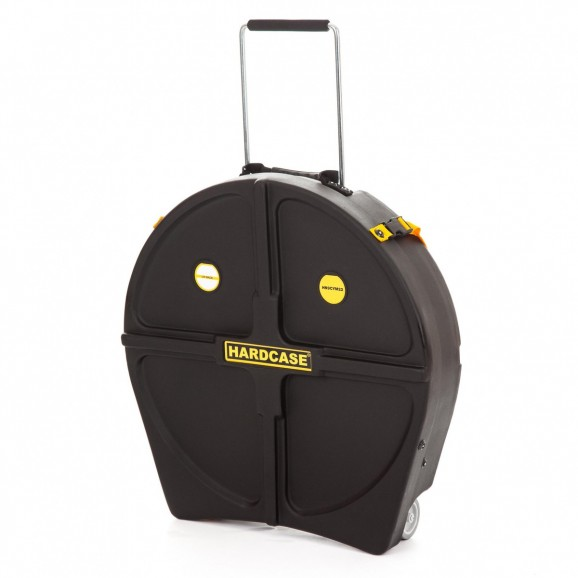 """Hardcase - Cymbal Case 22"""" With Wheels and Extendable Handle"""