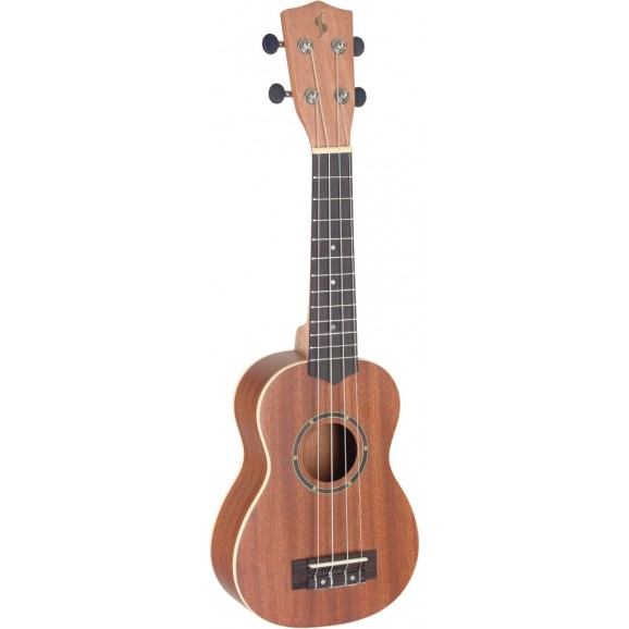 Stagg - Traditional Concert Ukulele With Sapele Top includes deluxe tweed case