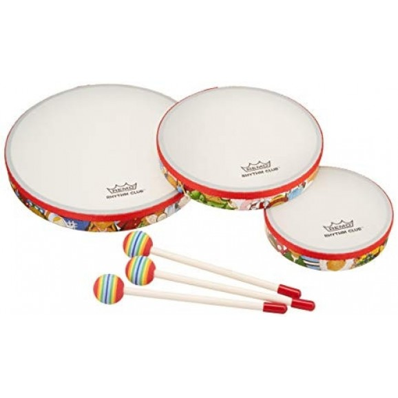 """Remo - 6"""" 8"""" 10"""" Frame Drum Set with Beaters"""