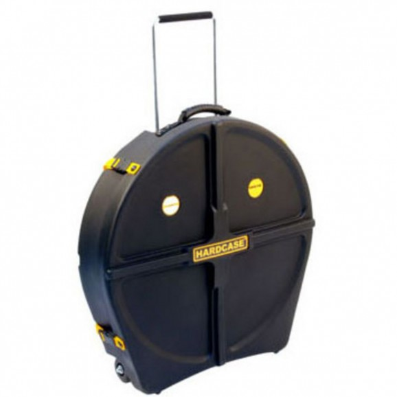 """Hardcase - Cymbal Case 24"""" with Wheels and Retractable handle"""