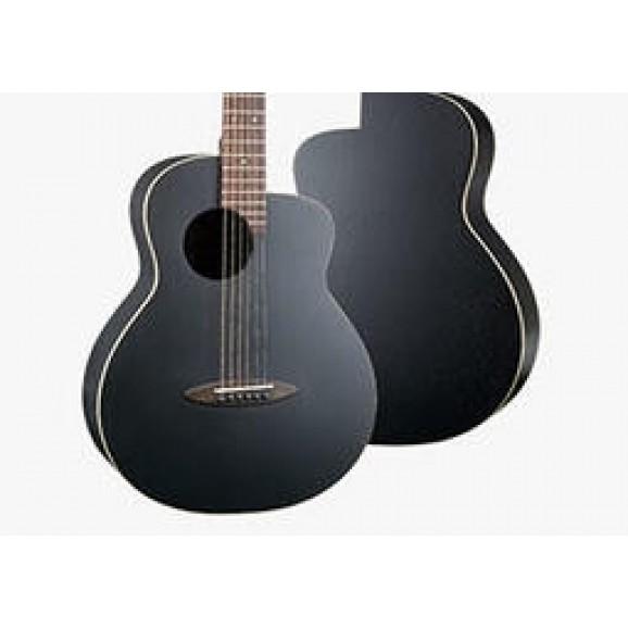 Anuenue M16EF Blackbird Acoustic / Electric Guitar in Matte Black