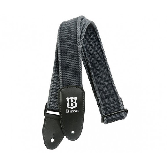 Basso Guitar Strap - Cotton Black EX01