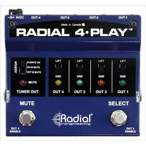 Radial 4-Play Multi-Channel DI