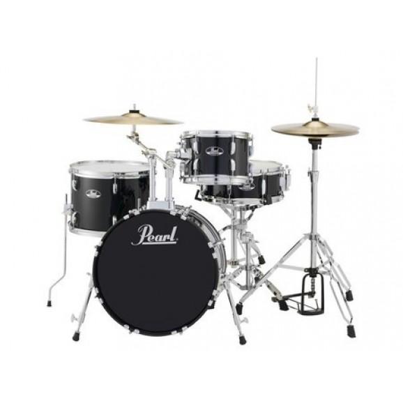 "Pearl Roadshow 18"" 4pc Drum Kit Package in Jet Black"