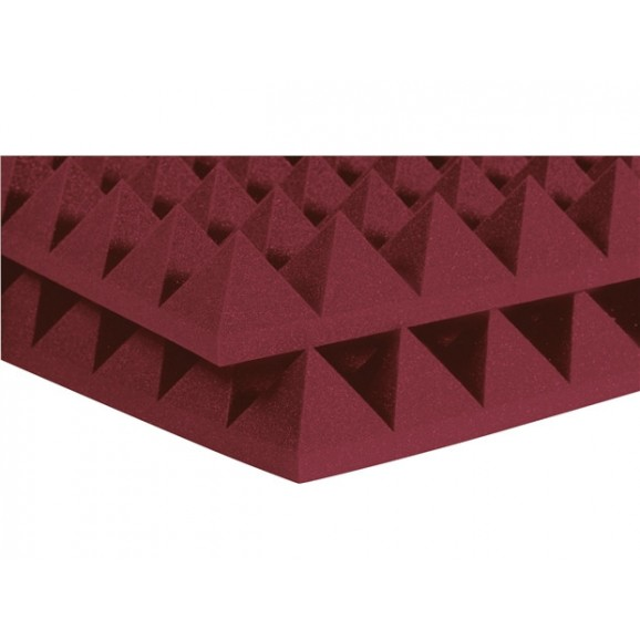 "Auralex 2"" SF Pyramid 2' x 4' Panels - Burgundy x 12"