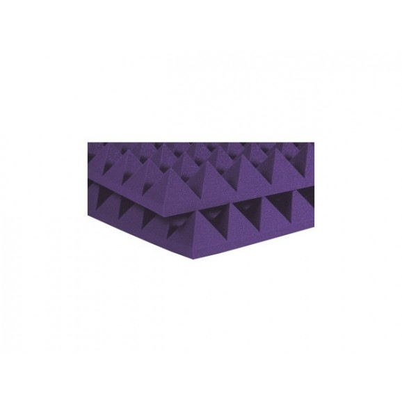 "Auralex 2"" SF Pyramid 2' x 4' Panels - Purple x 12"