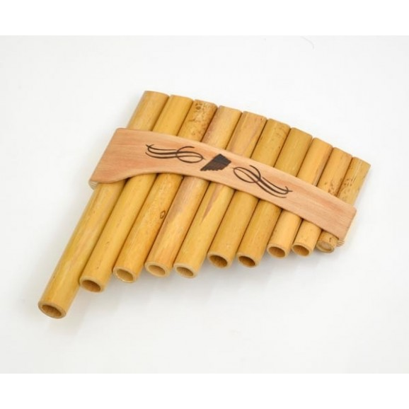 Schwarz Roumaines 10 Note C Curved Bamboo Panpipe  Panflute Pan Flute