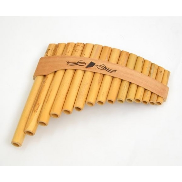 Schwarz Roumaines 15 Note C Curved Bamboo Panpipe Panflute Pan Flute
