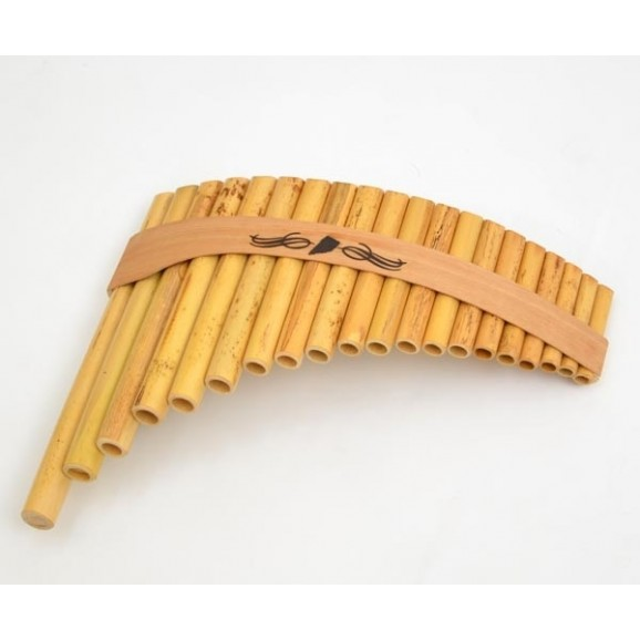 Schwarz Roumaines 20 Note C Curved Bamboo Panpipe Panflute Pan Flute