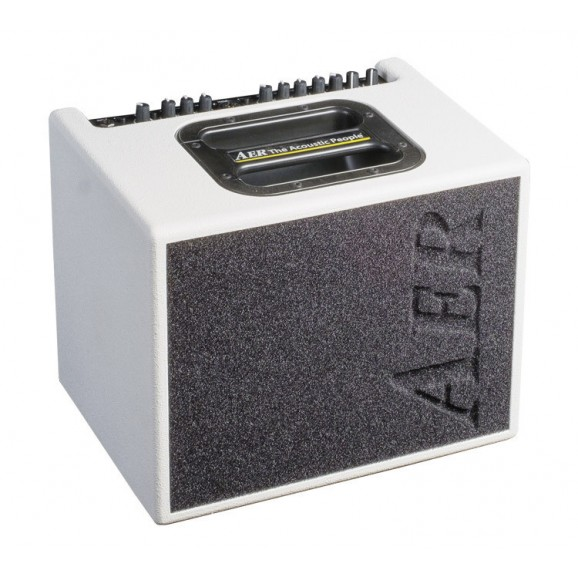 "AER ""Compact 60"" Acoustic Instrument Amplifier in White Spatter Finish (60 Watt)"