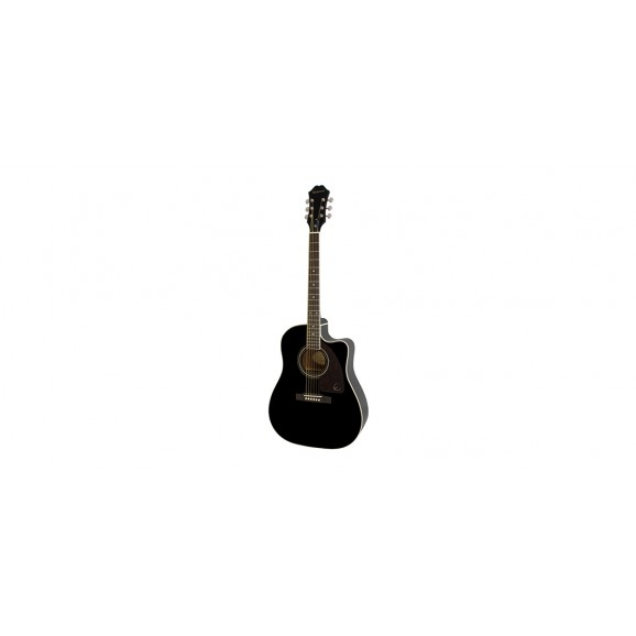 Epiphone AJ-220SCE Solid Top Ac/Electric Ebony - Limited Availability