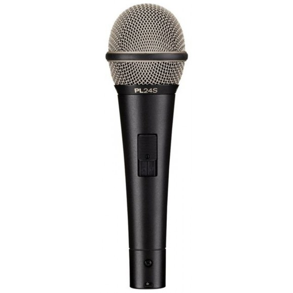 Electro-Voice PL24S Dynamic Supercardioid Vocal Microphone with On/Off Switch