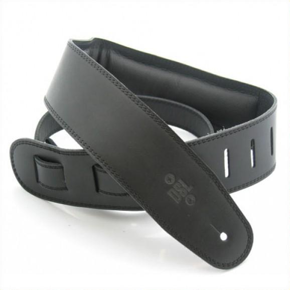 "DSL Straps - GEG25-15-1 2.5"" Padded Garment Black/Black Guitar Strap"