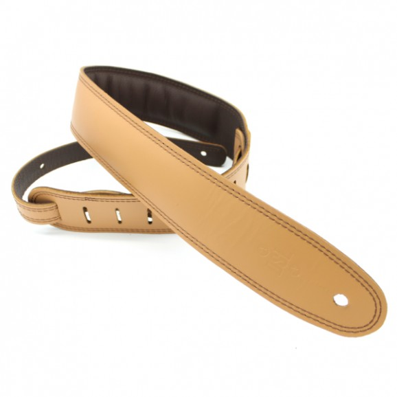 "DSL Straps - GEG25-18-2 2.5"" Padded Garment Tan/Brown Guitar Strap"
