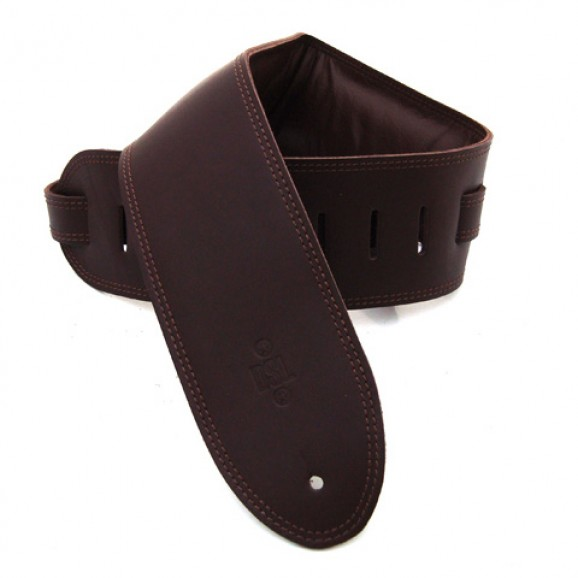 "DSL Straps - GEG35-17-2 3.5"" Padded Garment Saddle Brown/Brown Guitar Strap"