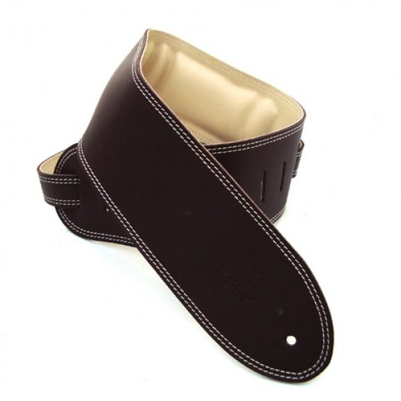 "DSL Straps - GEG35-17-3 3.5"" Padded Garment Saddle Brown/Beige Guitar Strap"